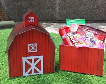 Barn Favor Box