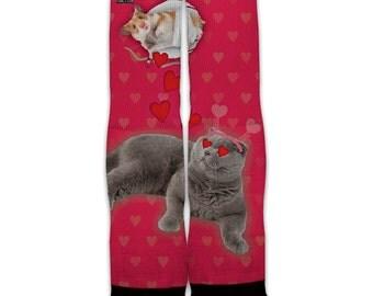Function - Valentine's Day Cat Cupid Fashion Socks