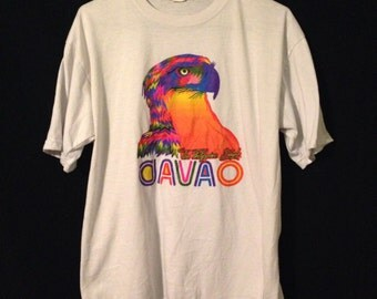 Rainbow eagle 80s tee Large XL