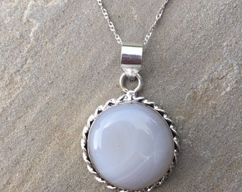 Midnight Sun' Opalite Sterling Silver Pendant Necklace