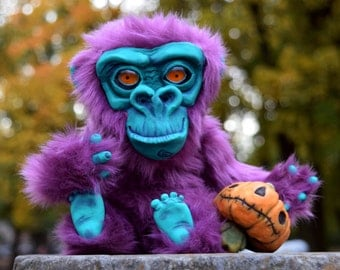 chimpanzee with Jack, The Pumpkin King