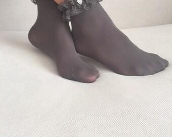 Christmas Gift, Women Socks, Lace Socks, Ankle Socks