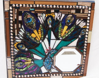 Peacock Blue Mosaic Etsy