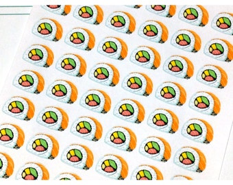54 Sushi Roll Stickers | 53