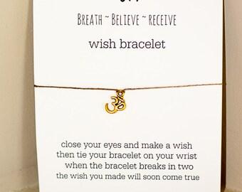 Om Wish Bracelet