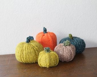 1 hand knit pumpkin