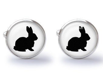 Bunny Rabbit Cufflinks Cuff Links - Rabbit Cufflink - Bunny Cufflink (Pair) Lifetime Guarantee