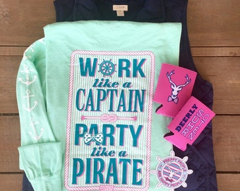 SMALL ONLY!! NEW! Jadelynn Brooke Work Like a Captain Party Like a Pirate