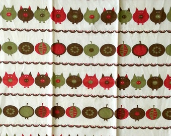 Scandinavia Swedish printed vintage Towel Curtain from 1950s.