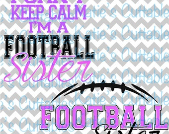 Football Sister, Football Season, Football Monogram, .SVG/.PNG/.EPS Files