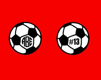 Soccer Player Monogram for your car or anywhere!  Choose Monogram or Player Number and show your Pride and Support!