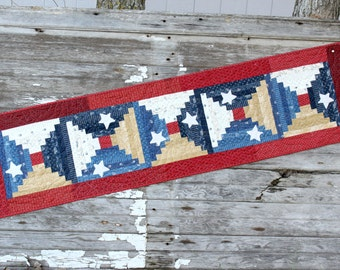 Patriotic Table Runner   Stars and Stripes    Table Runner   Fourth of July
