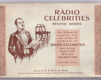 Complete Album of 50x Original Cigarette Tobacco Cards - 'RADIO CELEBRITIES' 2nd Series  - by W.D.& H.O. WILLS c1934