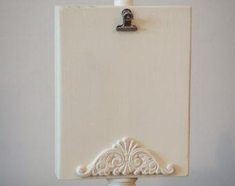 Rustic wooden photo display/Wedding centerpiece display/Wedding table number display/Rustic wooden display/Recipe Card Holder