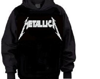 metallica hoodie black rock awesome
