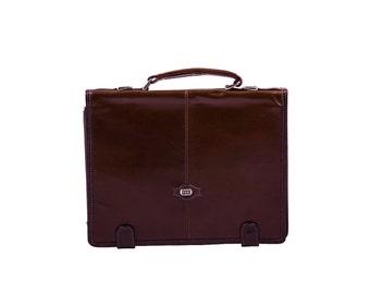 13'' Laptop Bag - Brown Leather Briefcase - Messenger Bag - Leather Laptop Bag