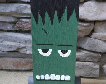 Wooden Halloween Frankenstein