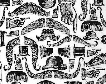 Springs Creative Victoria Mustaches 100% Cotton - Sale Fabric Sale