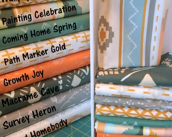 Art Gallery Fabric Bundle from Bound Collection by April Roads FQ Bundle of 9, 1/2 Yard Bundle of 9, 1 Yard Bundle