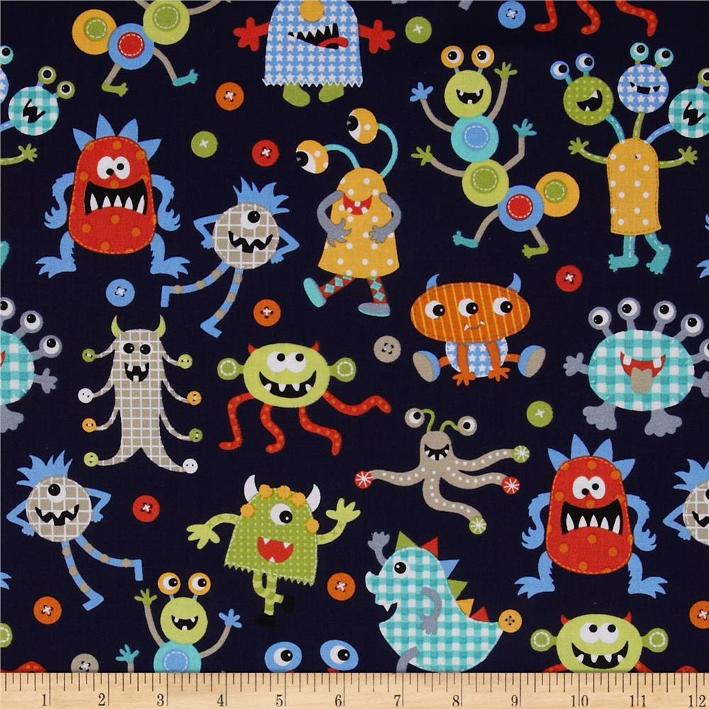 Michael Miller It S A Boy Thing Monster Mash 100 Cotton