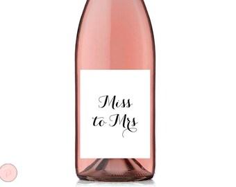 Miss to Mrs Wine Label, Bridal Shower Wine Bottle Label, Bridal Shower Decor, Bachelorette Wine Label Printable TG00 sign
