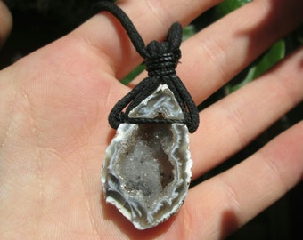Natrual Geode Crystal Necklace