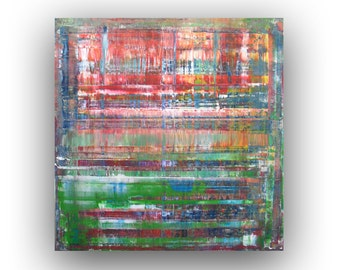 Abstract Painting, Red Green Blue, Modern Abstract Art, Original Acrylic Painting
