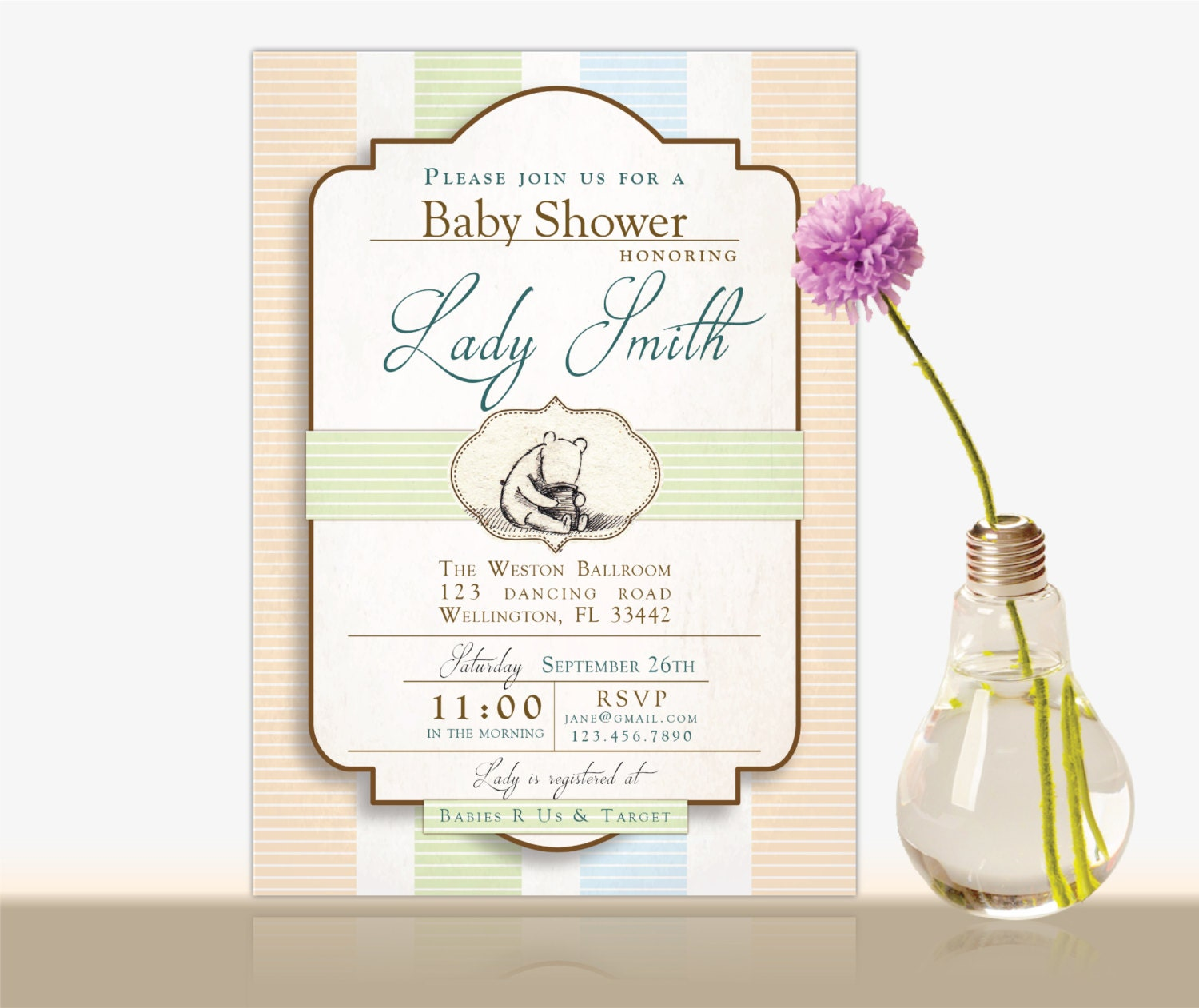 winnie the pooh baby shower invitation winnie the pooh bridal
