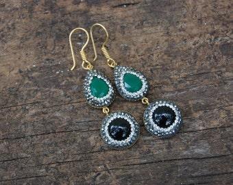 Handmade Sparkly Earrings Made in Grand Bazaar