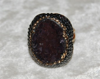 Druzy Sparkly ring 80% OFF (Adjustable) 2984
