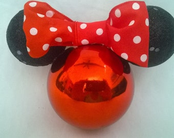 Minnie Mouse Christmas Ornament,Handmade