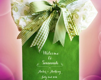 25+ Wedding Welcome Bags Personalized Wedding Guest Gift Bag OOT Bag Custom Wedding Welcome Hotel Bags Hospitality Bags~ Free Shipping!*