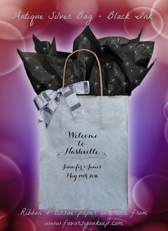 Wedding Welcome Bags Personalized Wedding Guest Gift Bag Welcome Bags ...
