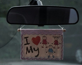 I love my children . Car accessories