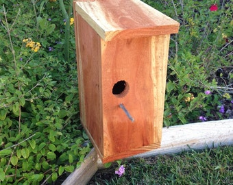 Natural Redwood Modern Birdhouse
