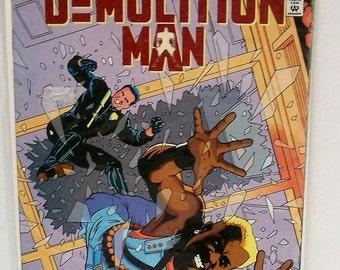 1994 Demolition Man #2 Sylvester Stallone Wesley Snipes Official Movie Adaptation Pt 23 Of 4 VF-NM Unread Vintage DC Comic Book