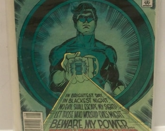 1982 Green Lantern #155  Hal Jordan Green Lantern & Tales of Green Lantern Corp  Story.Good Vintage DC Comic Book