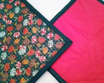 Pot Holder Hot Pad Trivet Christmas Kitchen Textiles Holiday Set Green