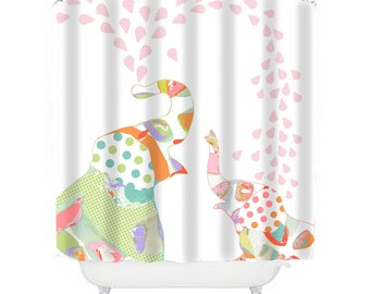kids shower curtains elephant shower curtain elephant bathroom decor kids bathroom decor pink