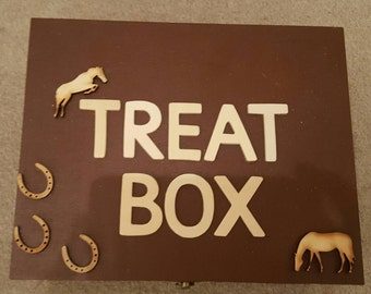 Wooden Horse Treat Box For Horses Treats Childrens Sweets Biscuits -  Empty