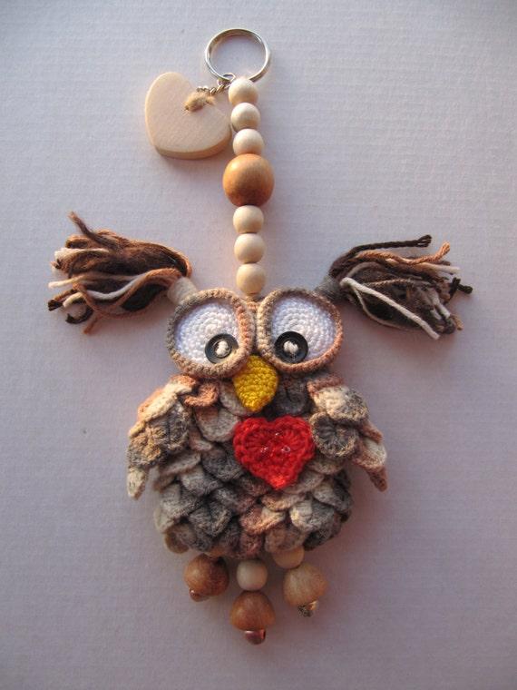 Decor Owl Pendant Love Suspended Owl Home Decor Handmade