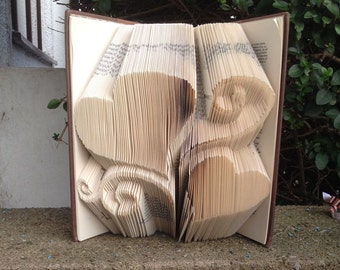 Fancy heart  Book folding pattern