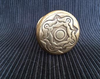 Doorknob, door knob, brass, vintage 1910