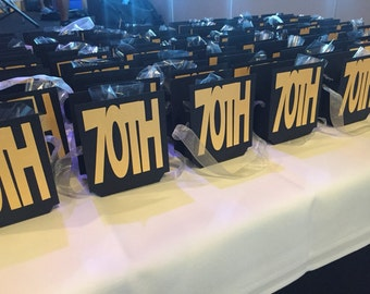 70th Birthday Favor Boxes/Bags