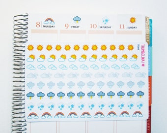 Weather Planner Stickers for Erin Condren, Filofax, Happy Planner and more (TP089)