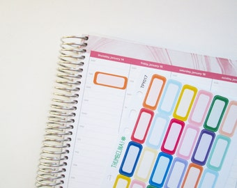 2 Line Boxes for the Hourly Erin Condren Life Planner (TPY017)