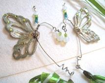 Green Fairy Ears, Absinthe Fairy, Green Elf Ears, Elvin Ears, Ear Wrap, Butterfly, Mermaid, Pixie Ears, Costume, Halloween, Arwen, LOTR