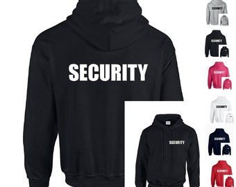 Security Mens/Adults/Unisex Hooded Sweatshirt Hoodie Pub/Bar/Door/Staff