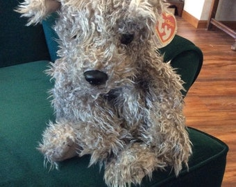TY Classic Rags Mwmt and protector Grey Shaggy Dog