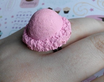 Kawaii Ice Cream Scoop Ring